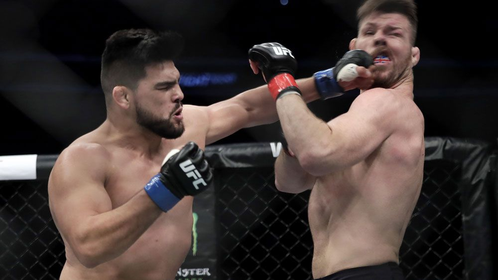 Kelvin Gastelum and Michael Bisping.