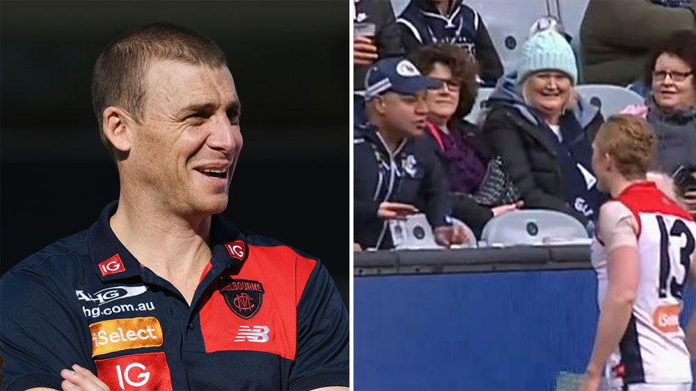 Melbourne coach Simon Goodwin defends Demons after Clayton Oliver's exchange with Carlton fan
