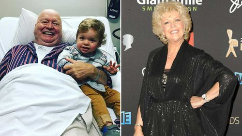 Bert Newton pictured in good spirits as he recovers from pneumonia in hospital