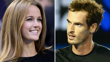 Kim Sears and fiance Andy Murray.