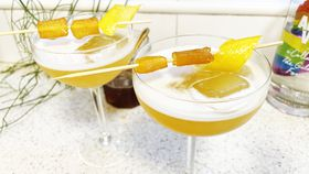 The fired up ginger honey bees knees cocktail