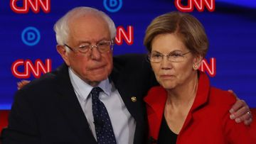 Bernie Sanders has denied telling Elizabeth Warren that a woman can't win the presidency.