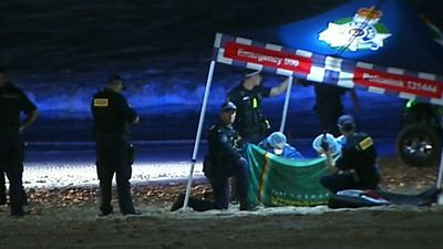 An infant has died at a  Gold Coast beach
