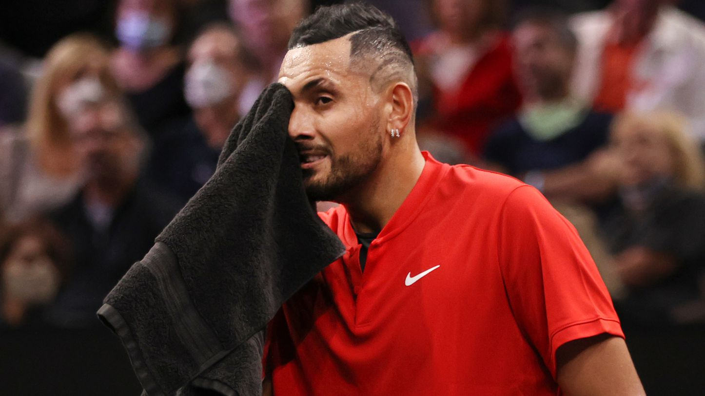 Nick Kyrgios of Team World at the  Laver Cup.