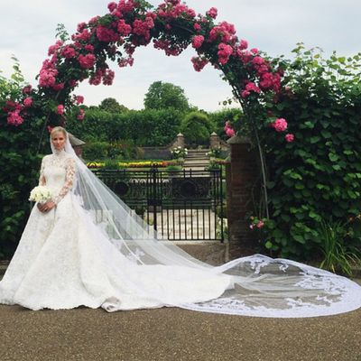 <strong>Who:</strong> Heiress Nicky Hilton married banking heir James Rothschild<br /><strong>Dress: </strong>Valentino Couture<br /><strong>Where: </strong>Kensington Palace, London