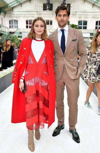 Olivia Palermo and husband Johannes Huebl at Valentino, S/S '18.