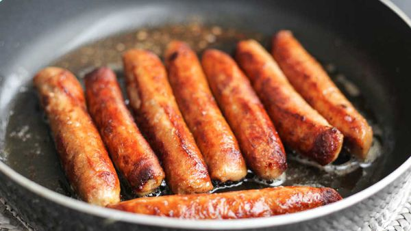 Sausages in a pan