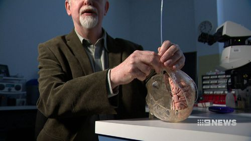 Researchers conducted a three-year trial of 19 patients and found the brain signal makes it easier to pinpoint where electrodes should go in deep brain simulation therapy. Picture: 9NEWS.