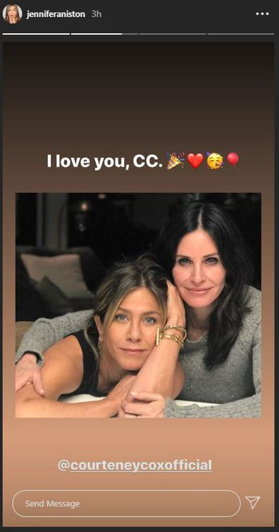 Courteney Cox, 56th birthday, diving, video, Jennifer Aniston, greeting