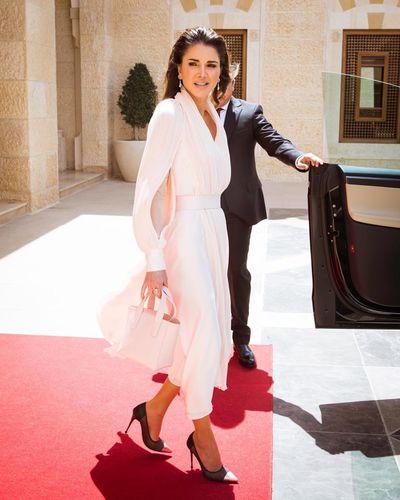 Queen Rania of Jordan in Adeam while in Amman in May, 2018