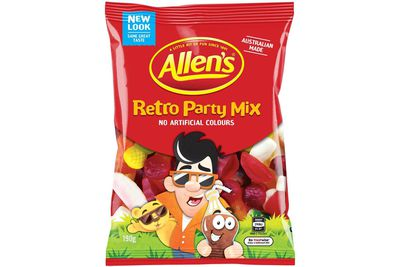 Allen's Retro Party Mix: More than 2 teaspoons of sugar
