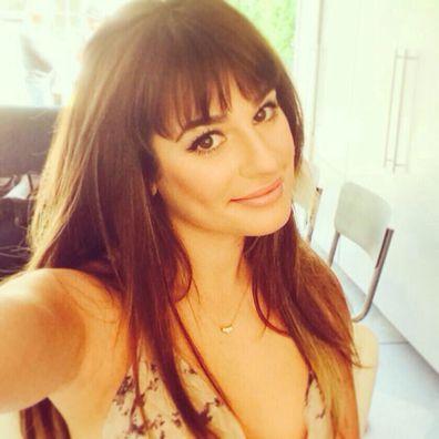 Lea Michele, selfie Instagram