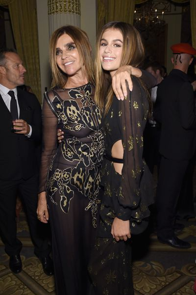 <p>Kaia Gerber is already being championed by veterans of the industry including Marc Jacobs and former French Vogue editor Carine Roitfeld.</p> <p>Carine Roitfeld and Kaia Gerber at <em>Harper's Bazaar</em>'s ICONS By Carine Roitfeld launch at The Plaza Hotel on September 9, 2016 in New York.</p>