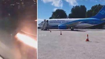 Emergency landing at Brisbane airport Nauru Airlines plane