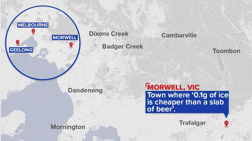 Morwell is located in regional Victoria to the east of Melbourne. (9NEWS)