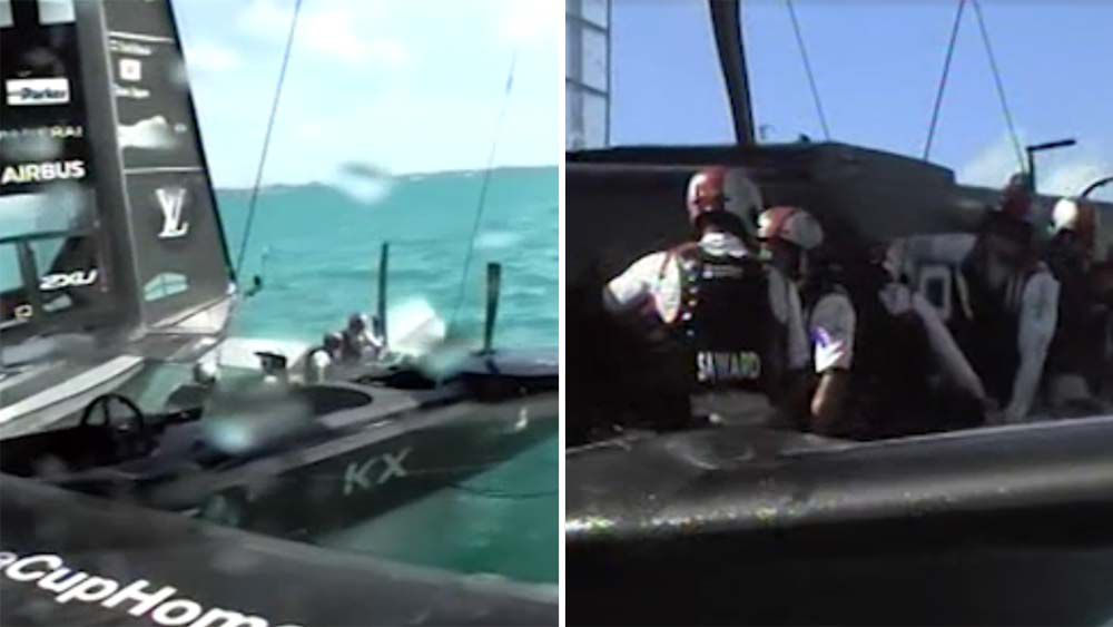 America's Cup team 'nearly sank' after huge collision on Day 1