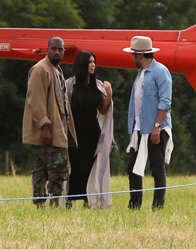 <p>Kayne West and Kim Kardashian West</p>