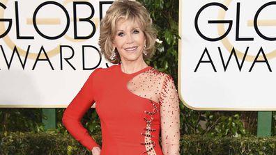 Jane Fonda arrives at the 72nd annual Golden Globe Awards in Beverly Hills, Calif., on Jan. 11, 2015.