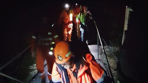 SES rescuers found the man just after 1am.