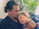 Hamilton star, Miguel Cervantes, daughter Adelaide, sick