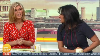 Kate Garraway on Good Morning Britain talks about filming with Kate Middleton and Prince William for the upcoming Pride of Britain Awards