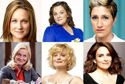 Edie Falco, <i>Nurse Jackie</i><br/><br/>Tina Fey, <i>30 Rock</i><br/><br/>Laura Linney, <i>The Big C</i><br/><br/>Melissa McCarthy, <i>Mike & Molly</i><br/><br/>Martha Plimpton, <i>Raising Hope</i><br/><br/>Amy Poehler, <i>Parks and Recreation</i>