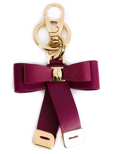 """<a href=""""http://www.farfetch.com/au/shopping/women/salvatore-ferragamo-bow-keyring-item-11052249.aspx?storeid=9446&ffref=lp_12_1_"""" target=""""_blank"""">Keyring, $224.83, Salvatore Ferragamo at Farfetch</a>"""