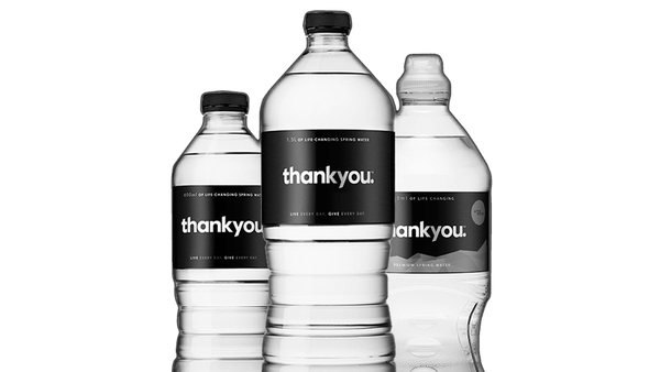 Thankyou Water bottles