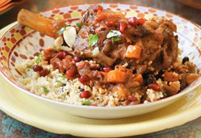 Lamb shanks with couscous