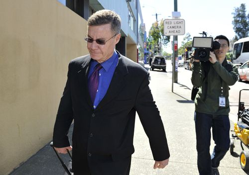 Michael Atkins arriving at the Glebe Coroner's Court in Sydney.  (AAP)