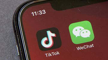 Icons for the smartphone apps TikTok and WeChat are seen on a smartphone screen in Beijing (Photo: August, 2020)