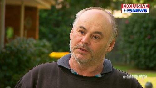Darren Pagett says he was appalled at the standard of care for his late Uncle Lionel. Picture: 9NEWS