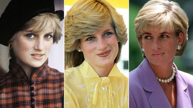 Princess Diana's hair evolution