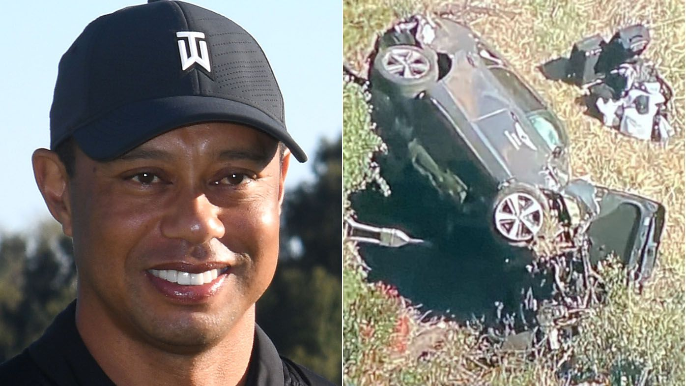 Tiger Woods hospitalised after serious car crash