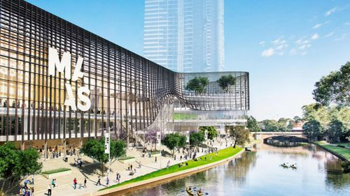 An artist's impression of the proposed Powerhouse Museum at Parramatta in April 2016. (NSW Government)