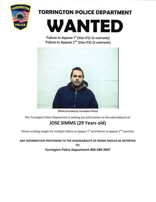 Jose Simms has agreed to hand himself in if his wanted poster gets 15,000 likes on Facebook. It is currently under 2,000.