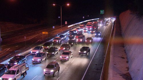 Police have urged caution to motorists who break down on busy roads. Picture: 9NEWS