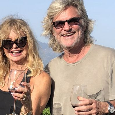 Goldie Hawn and Kurt Russell.