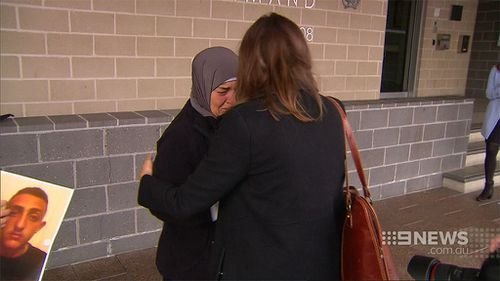 Mahmoud's family are distraught. (9NEWS)