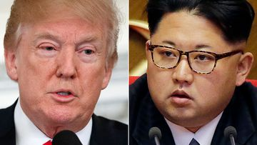 "President Donald Trump has told a cheering crowd at a campaign rally that there was once tough talk ""back and forth"" between him and North Korean leader Kim Jong Un – until ""we fell in love""."