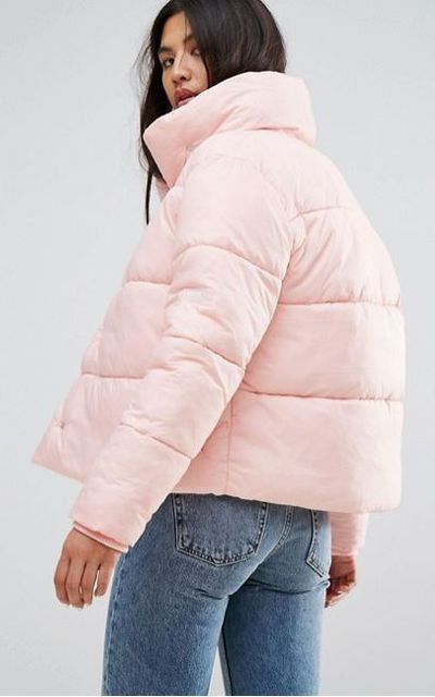 """<a href=""""http://www.asos.com/au/puffa/puffa-oversized-jacket-with-wrap-collar/prd/8463612?clr=powderpink&amp;SearchQuery=puffa%20jacket&amp;gridcolumn=4&amp;gridrow=1&amp;gridsize=4&amp;pge=1&amp;pgesize=72&amp;totalstyles=12"""" target=""""_blank"""" title=""""Puffa Oversized Jacket With Wrap Collar in Powder Pink, $84"""" draggable=""""false"""">Puffa Oversized Jacket With Wrap Collar in Powder Pink, $84</a><br> <br>"""