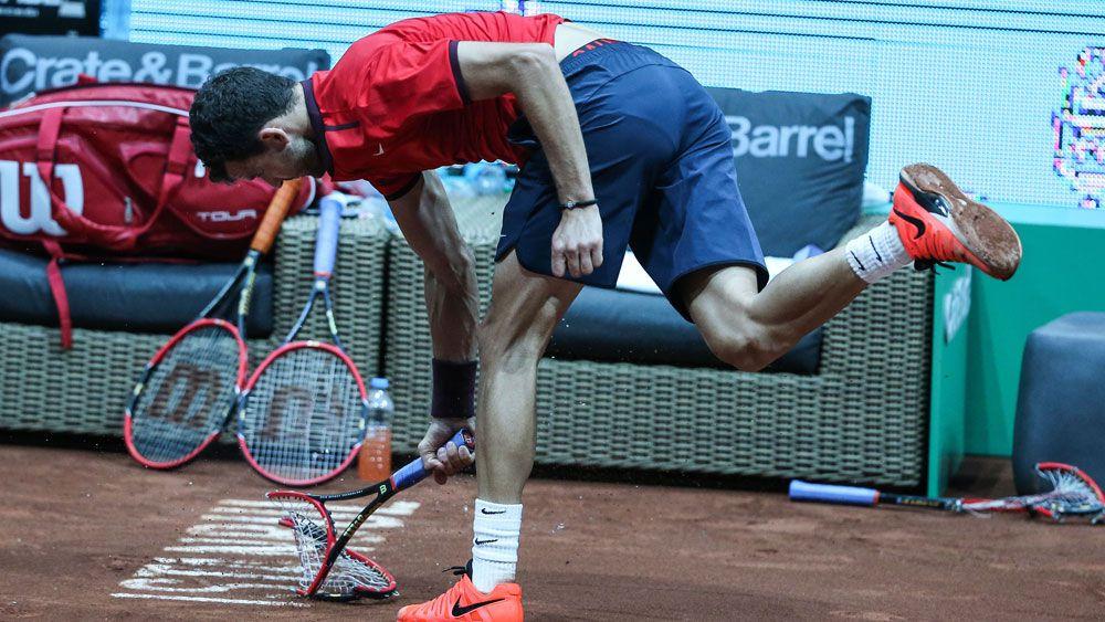 Racquet smash costs fiery Dimitrov title