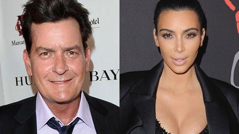 Charlie Sheen and Kim Kardashian