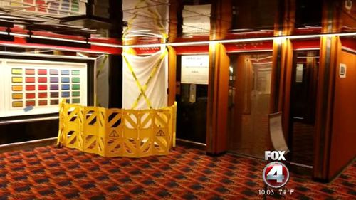 Man films horror scene as elevator worker crushed on cruise ship
