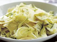 Shaved fennel and parmesan salad