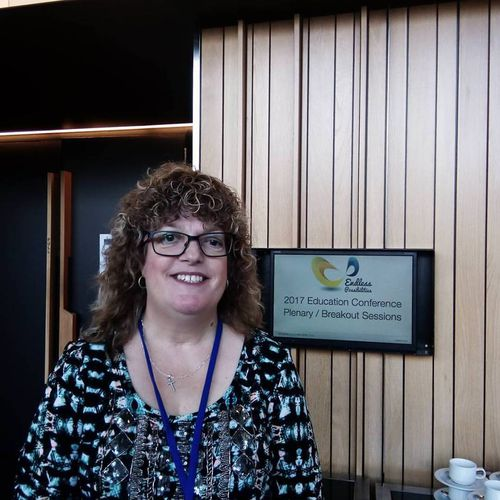 Ms Woolsey at a Queensland Education conference.
