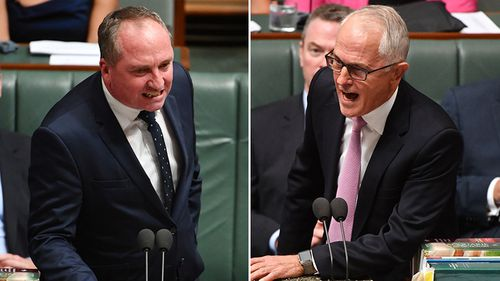 "Mr Joyce has also clashed publicly with Prime Minister Malcolm Turnbull, who described his affair with Ms Campion as ""distracting and unhelpful"" (Supplied)."