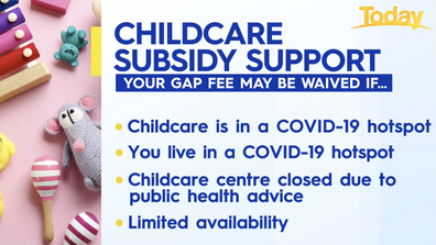 What to know about childcare subsidy support.
