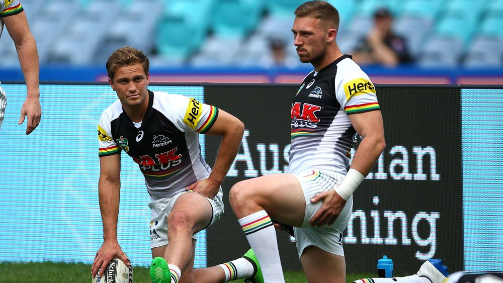 Matt Moylan (l) and Bryce Cartwright.
