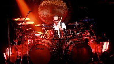 Stone Music Festival. Van Halen. Drummer Alex Van Halen.